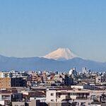 連日庁舎から、凛とした富士山を見られる季節になりました